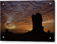 Acrylic Print featuring the photograph White Desert Sunrise by Judi Baker