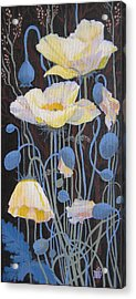 Acrylic Print featuring the painting White Poppies by Marina Gnetetsky