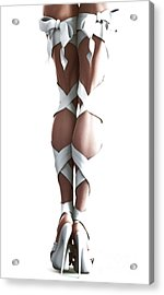 White Ribbons Acrylic Print