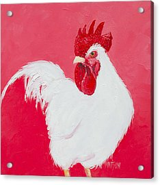 White Rooster Acrylic Print