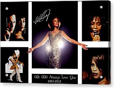Whitney Houston Tribute Acrylic Print by Amanda Struz