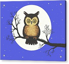 Whooo You Lookin' At Acrylic Print