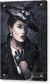 Widow At Funeral Acrylic Print