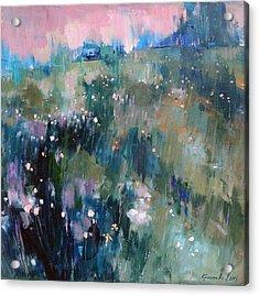 Acrylic Print featuring the painting Wild Grasses  by Anastasija Kraineva