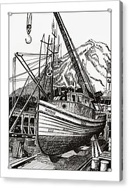 Will Fish Again Another Day Acrylic Print by Jack Pumphrey