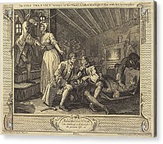 William Hogarth English, 1697 - 1764, The Idle Prentice Acrylic Print by Quint Lox