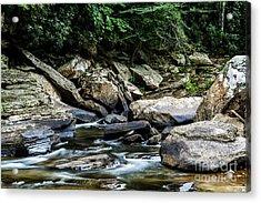 Williams River Rocks Acrylic Print by Thomas R Fletcher