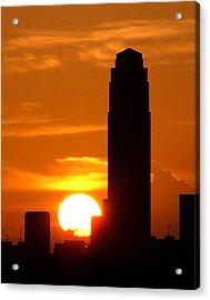 Williams Tower Sunset Acrylic Print