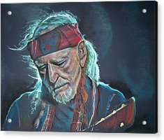Willie Acrylic Print by Peter Suhocke