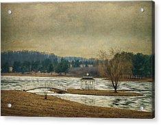 Willow Lake  Acrylic Print by Kathy Jennings