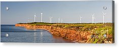 Wind Turbines On Atlantic Coast Acrylic Print by Elena Elisseeva