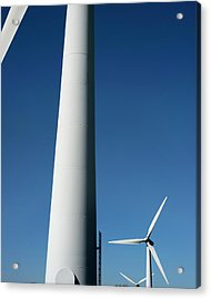Wind Turbines Acrylic Print by Robert Brook