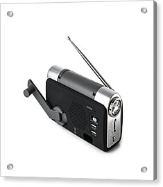 Wind-up Radio And Torch Acrylic Print by Science Photo Library