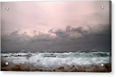 Window Sea Storm  Acrylic Print by Stelios Kleanthous