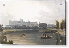 Windsor Castle From The River Thames Acrylic Print by William Daniell