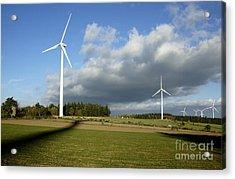 Windturbines Acrylic Print by Bernard Jaubert