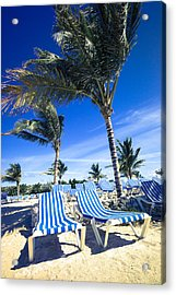 Windy Day At The Beach Acrylic Print by Susan Stone