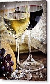 Wine And Cheese Acrylic Print by Elena Elisseeva