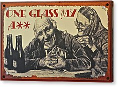 Wine Is Fine Acrylic Print by Frozen in Time Fine Art Photography