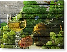 Wine Acrylic Print by Joe Hamilton