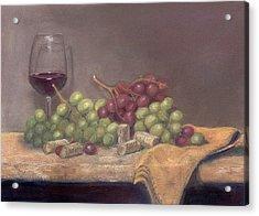 Wine Tasting Acrylic Print by Ellen Minter