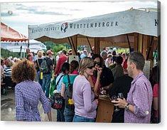 Wine Tour In Uhlbach Near Stuttgart - Germany Acrylic Print by Frank Gaertner