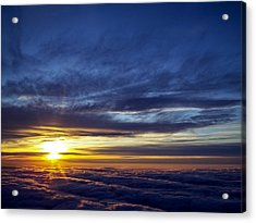 Acrylic Print featuring the photograph Winter Dawn Over New England by Greg Reed
