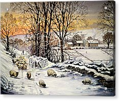 Winter In The Ribble Valley  Acrylic Print by Andrew Read