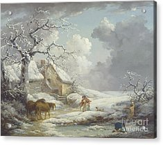 Winter Landscape Acrylic Print by Pg Reproductions