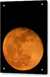 Acrylic Print featuring the photograph Winter Moon by Carlee Ojeda