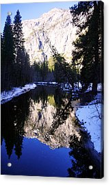 Winter Reflection Acrylic Print by Michael Courtney