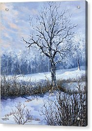 Acrylic Print featuring the painting Winter Slumber by Lynne Wright