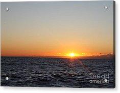 Winter Sunrise Over The Ocean Acrylic Print