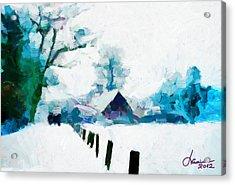 Winter Tales Tnm Acrylic Print by Vincent DiNovici