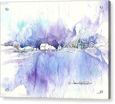 Winter White Acrylic Print by Joan Hartenstein
