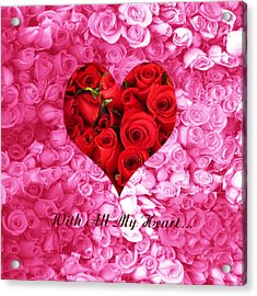 With All My Heart... Acrylic Print by Xueling Zou