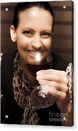 Woman At Winery Acrylic Print