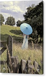 Woman In Country Field Acrylic Print
