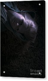 Woman Sleeping Under Moonlight Acrylic Print by Jorgo Photography - Wall Art Gallery