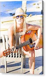 Woman With Guitar Acrylic Print