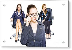 Women Achievers In Corporate Business Acrylic Print by Jorgo Photography - Wall Art Gallery