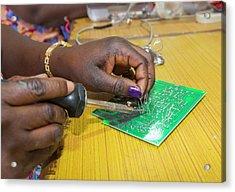 Women On A Solar Workshop Acrylic Print by Ashley Cooper