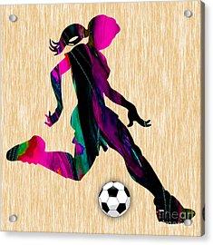 Women's Soccer Acrylic Print by Marvin Blaine