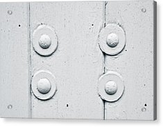 Wood And Bolts Acrylic Print by Tom Gowanlock