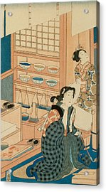 Woodblock Production Acrylic Print by Japanese School