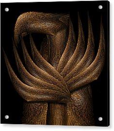 Wooden Bird Acrylic Print by Christopher Gaston