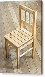 Wooden Chair Acrylic Print by Tom Gowanlock