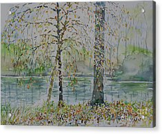 Acrylic Print featuring the painting Woodmans Pond by Alfred Motzer