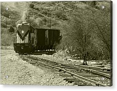 Work Train In Clarkdale Arizona Acrylic Print