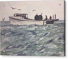 Workboat Acrylic Print by Stan Tenney